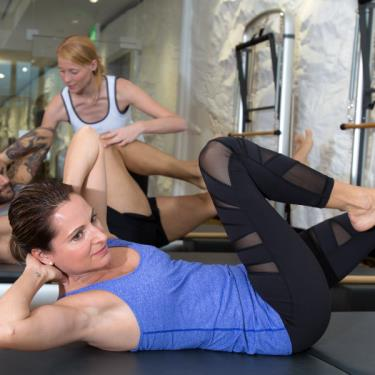Duo-Training im Pilates Studio Allmend
